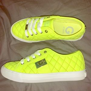 Neon Yellow GUESS sneakers!